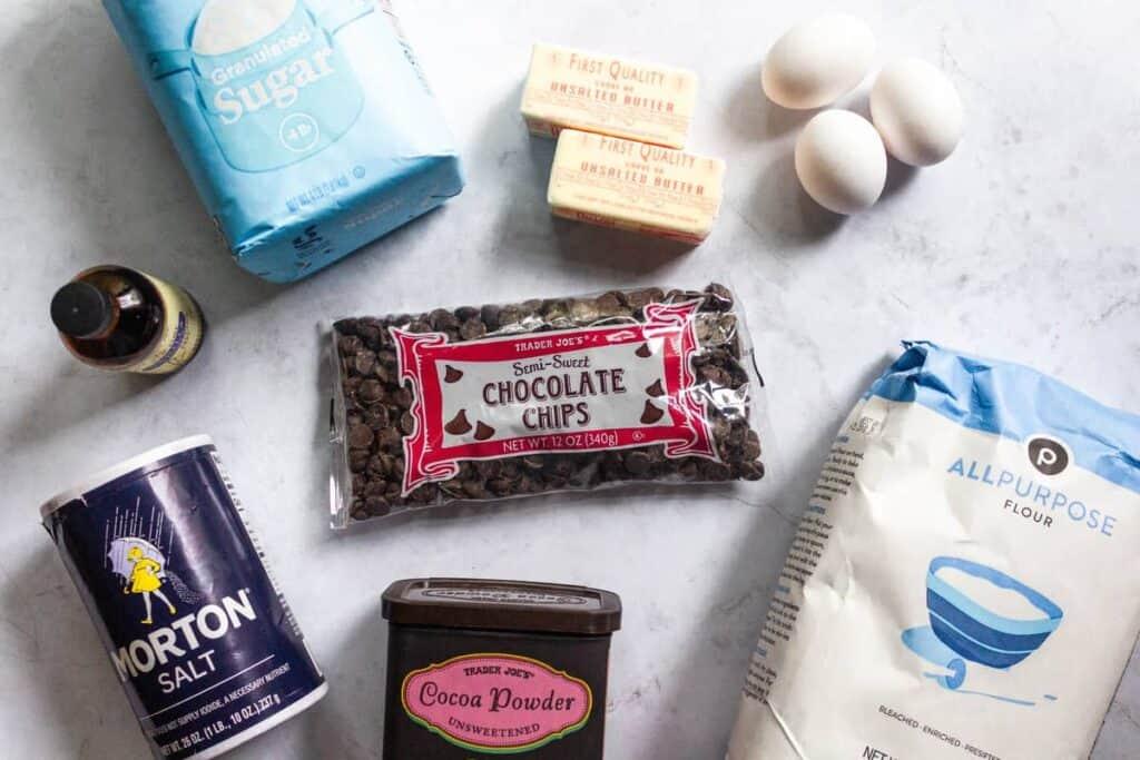 ingredients to make better-than-box brownies