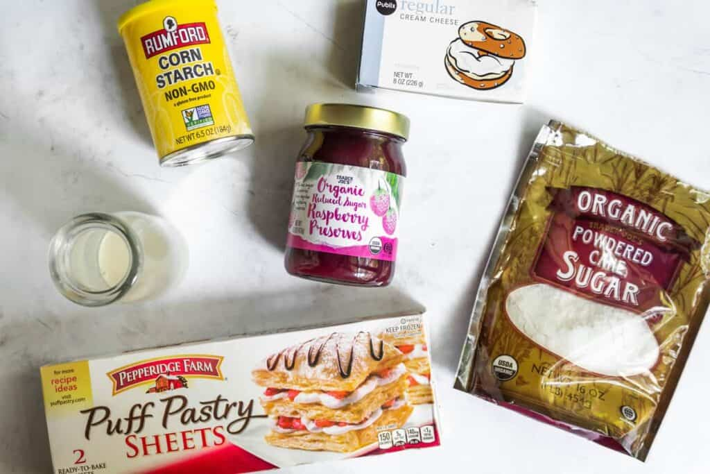 ingredients for homemade toaster strudels
