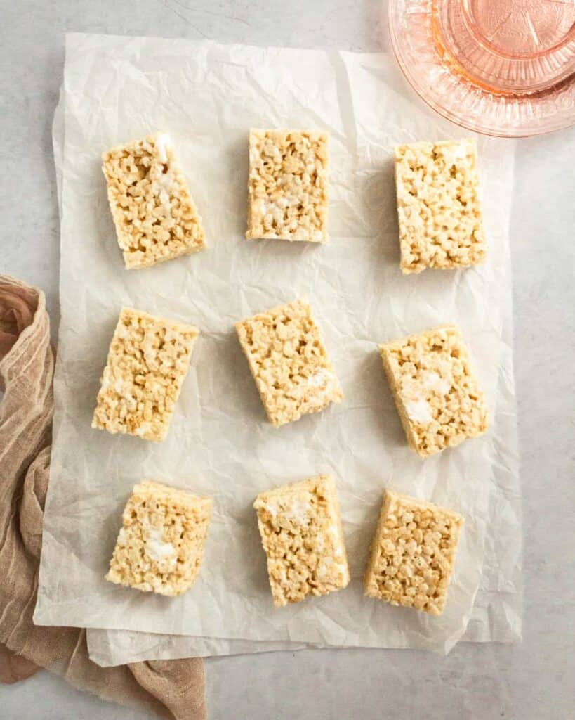 pockets of marshmallow in the rice krispie treats