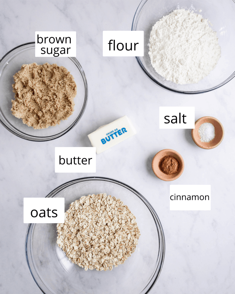 ingredients for streusel topping