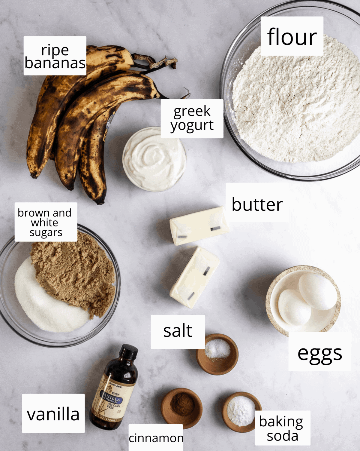 ingredients for banana cake