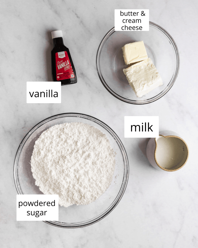 ingredients for icing