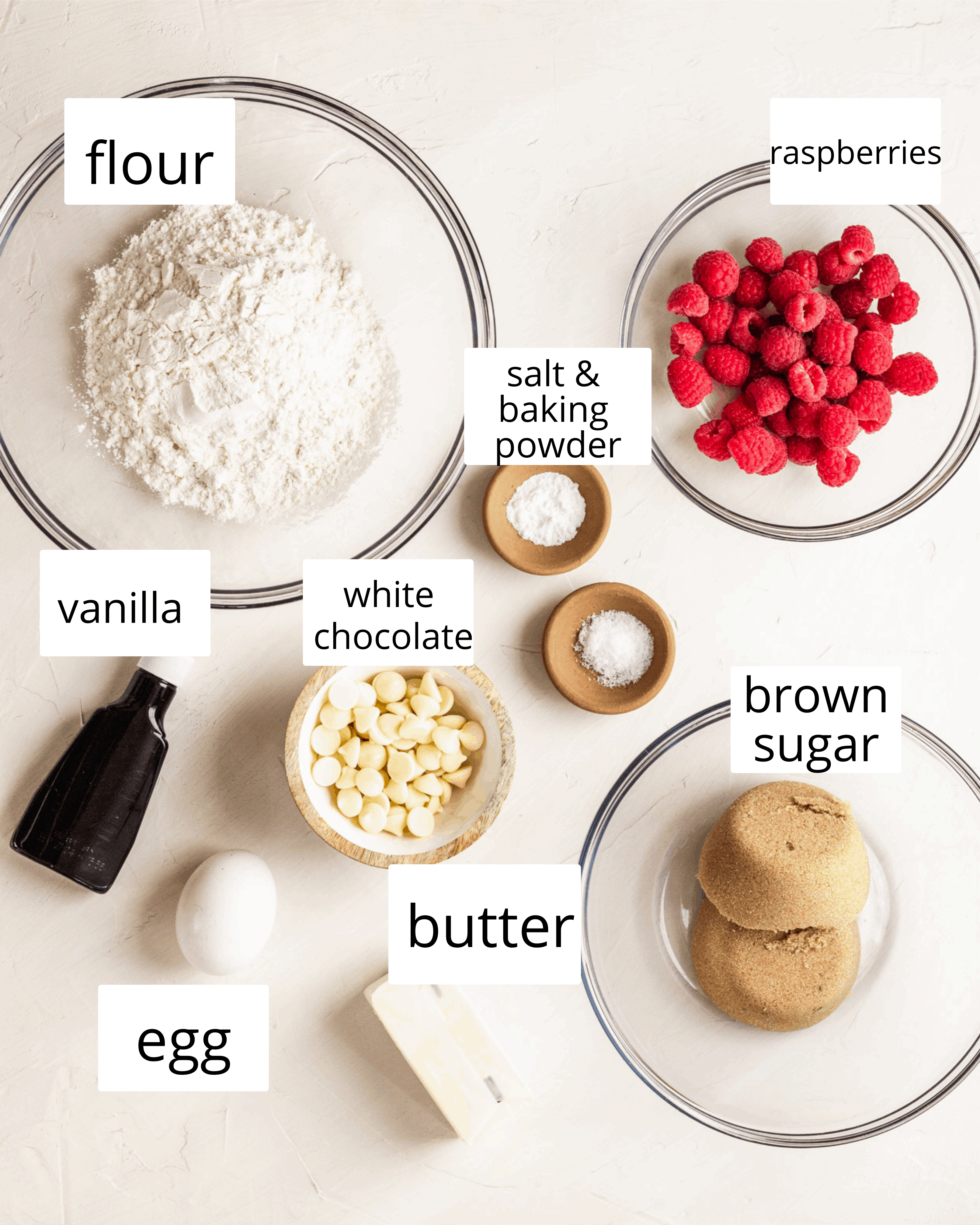 ingredient shot for everything you need to make these blondies.