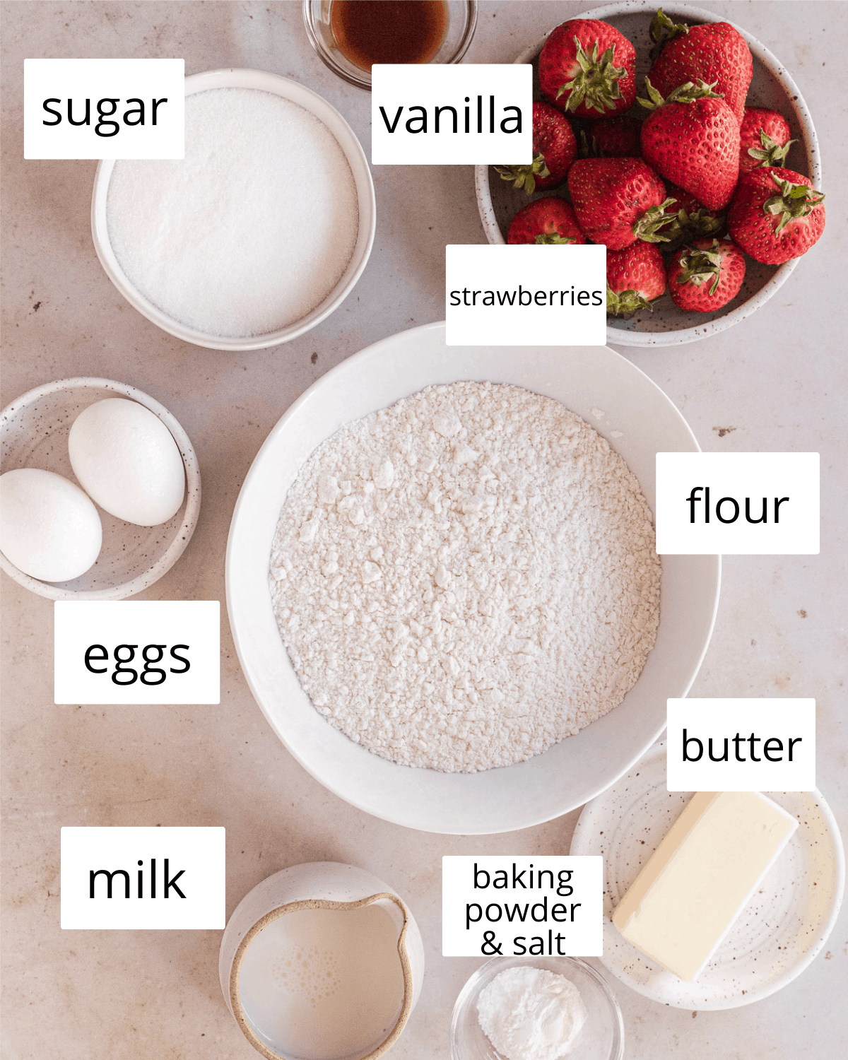 ingredients needed for cupcakes