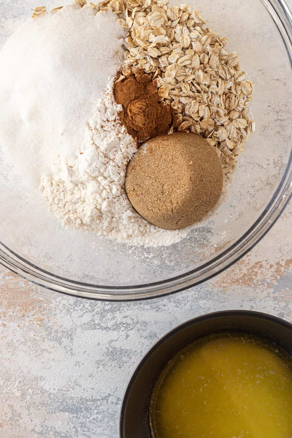 ingredients needed to make the oat streusel